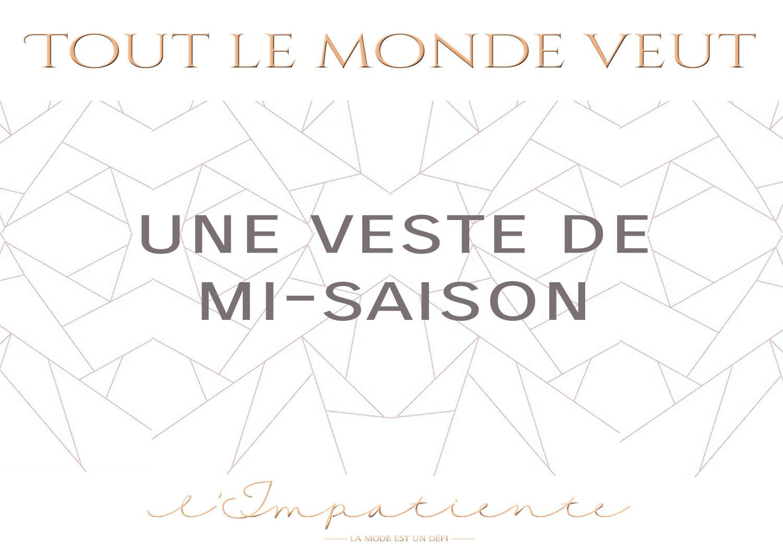 veste mi-saison