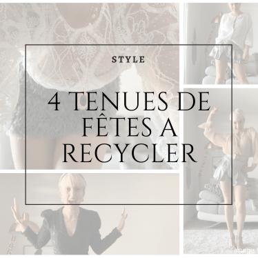 4 tenues de fêtes recyclables
